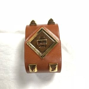 "Vince Camuto 1.75"" wide stud leather cuff bracelet"